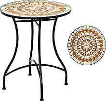 RELAX4LIFE Table de Jardin Plateau en Mosaïque et