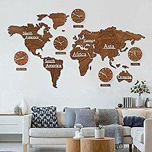 Relaxbx Carte du Monde en Bois 3D avec Ensemble