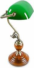 Relaxdays-10016607 Lampe de Bureau Banquier avec