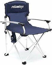 Relaxdays 10020075 Chaise de camping pliante