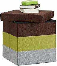 Relaxdays 10022866_470 Tabouret Cube carré Pliant