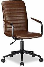 Relaxdays 10022905 Chaise de bureau simili cuir