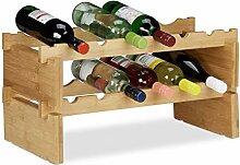 Relaxdays 10023410_347 Étagère à vin empilable,