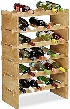 Relaxdays 10023410_351 Étagère à vin empilable,