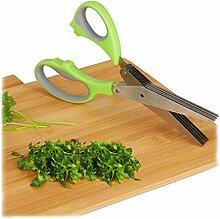 Relaxdays 10023898 Ciseaux à herbes en acier