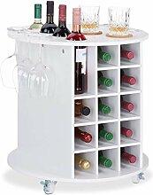 Relaxdays 10025020 Etagère vin, design, à