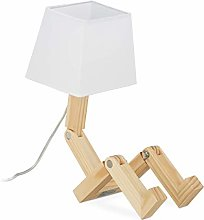Relaxdays 10028033 Lampe Roboter, Ajustable,