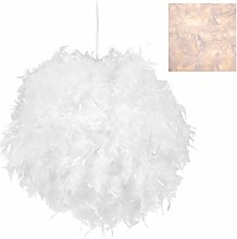 Relaxdays 10028399 Lampe à plumes,grosse, chambre