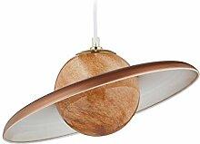 Relaxdays 10029537_553 Lampe suspension, Saturne,