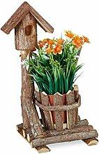 Relaxdays 10031007 Pot de Fleurs en Bois, avec