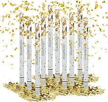 Relaxdays - 10x Lanceurs confettis 80 cm canons
