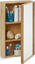 Relaxdays - Armoire de salle de bain avec miroir