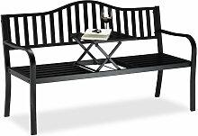 Relaxdays - Banc de jardin table pliante, 3
