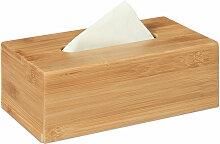 Relaxdays - Boîte à mouchoirs en bambou
