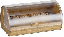Relaxdays Boîte à pain bambou tiroir coulissant