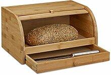 Relaxdays Boîte à pain tiroir couteau caisse à