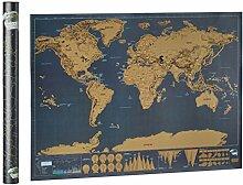 Relaxdays Carte du monde à gratter poster du