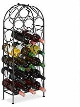 Relaxdays casier à vin, 20 Bouteilles, étagère