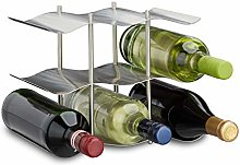 Relaxdays Casier à vin pour 9 bouteilles en inox