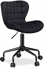 Relaxdays Chaise de bureau informatique fauteuil