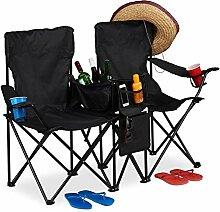 relaxdays Chaise de Camping Double, Fauteuil de
