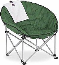 Relaxdays Chaise de Camping Pliante, Fauteuil de