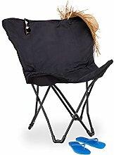 Relaxdays Chaise papillon chaise pliante Fauteuil