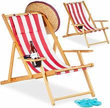 Relaxdays - Chaise pliante lot de 2 en bambou