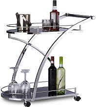 Relaxdays - Chariot de service verre BARON design
