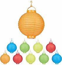 Relaxdays, coloré Lampion chinois LED abat-jour