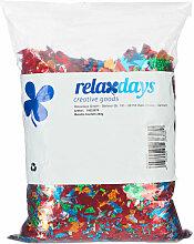 Relaxdays - Confettis, sac XXL, métallique,