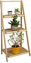 Relaxdays Escalier étagère pour fleurs en bambou