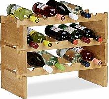 Relaxdays Étagère à vin empilable, Porte
