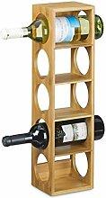Relaxdays Étagère à vin en bambou HxlxP: 53 x