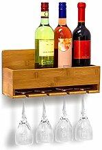 Relaxdays Étagère à vin Porte-verres fixation