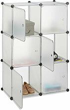 Relaxdays - Étagère cubes penderie armoire