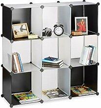 Relaxdays Étagère cubes rangement bibliothèque