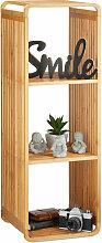 Relaxdays - Etagère en bambou, salle de bain,