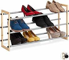 Relaxdays Etagère, meuble ouvert chaussures en