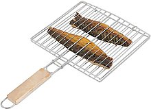 Relaxdays Grille de cuisson poisson barbecue 40