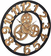 Relaxdays Horloge Murale, XL, Rouages, 3D,