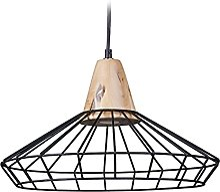 Relaxdays Lampe à suspension GRID optique cage