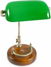 Relaxdays Lampe de banquier bureau table abat-jour