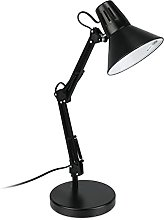 Relaxdays Lampe de bureau, articulée, abat-jour