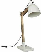 Relaxdays Lampe de bureau design scandinave bois