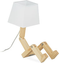 Relaxdays - Lampe de bureau Roboter, ajustable,