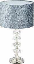 Relaxdays - Lampe de table, abat-jour en velours,
