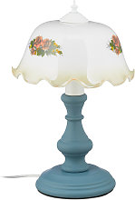 Relaxdays - Lampe de table, motif floral vintage,