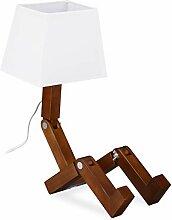 Relaxdays Lampe de table robot, design rare,