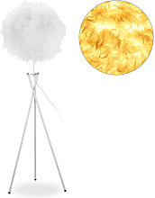 Relaxdays - Lampe plumes, E27, une ampoule,lampe